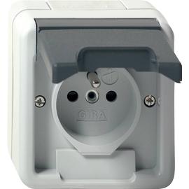 048530 GIRA Steckdose Erdstift KS WG Auf putz Grau Produktbild