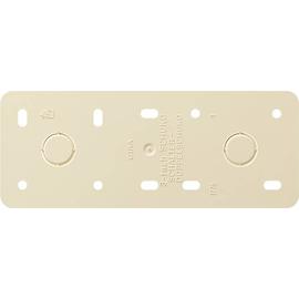 008313 Gira Montageplatte 3fach reinweiss AP Produktbild
