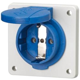 AM11011F MENNEKES Schuko-Anbausteckdose blau 16A 2p+E 230V IP54 Steckklemme Produktbild