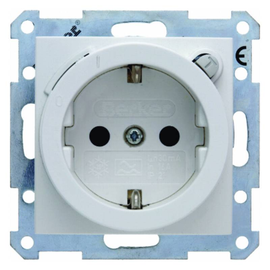 47081909 BERKER S.1/B.x SSD mit FI-Schut zschalter polarweiß matt Produktbild