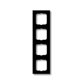 1724-885K Busch&Jäger 4-Fach Rahmen Future Linear Schwarz matt Produktbild