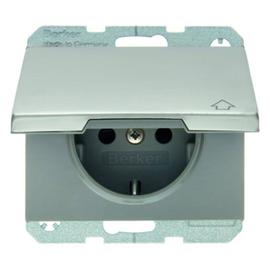 47517104 Berker BERKER K.5 SSD mit Klappdeckel Edelstahl Produktbild