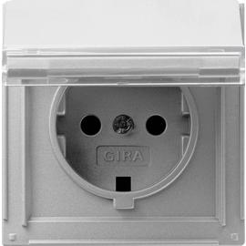 041065 GIRA SCHUKO Steckdose KD BSF Gira TX_44 (WG UP) Farbe Alu Produktbild
