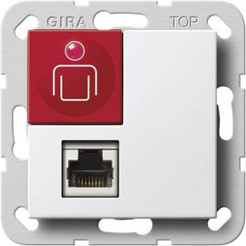 590103 GIRA Ruftaster Nebensteckkontakt System 55 Reinweiß Produktbild