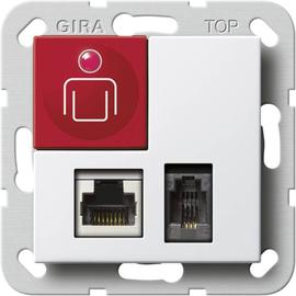 590603 GIRA Ruftaster Steckk. Diagnostik System 55 Reinweiß Produktbild