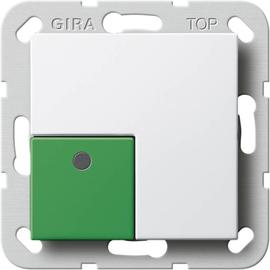 590803 GIRA Anwesenheitstaster Grün System 55 Reinweiß Produktbild
