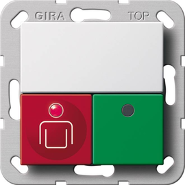290203 GIRA Ruf Anwesenh.taster System 55 Reinweiß Produktbild