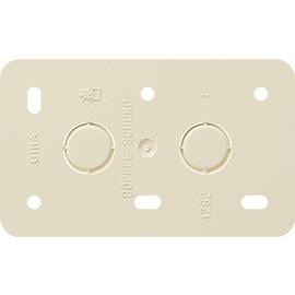 008213 GIRA Montageplatte 2fach Steckdosen Aufputz Produktbild