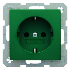 41438913 Berker BERKER S.1/B.1/B.3/B.7 SSTD. mit Schraubklemmen, grün glänzend Produktbild