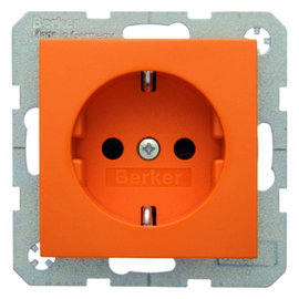 47238914 Berker BERKER S.1/B.x SSD mit erhöhtem Berührungsschutz orange glänzen Produktbild
