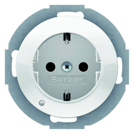 41092089 Berker R.x SSD mit LED- Ambientebeleuchtung polarwei0 glänzend Produktbild