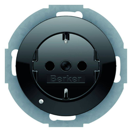 41092045 Berker R.x SSD mit LED- Ambientebeleuchtung schwarz glänzend Produktbild