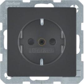 47236086 Berker Q.x Schuko-Steckdose mit Shutter anthrazit samt Produktbild
