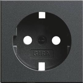 092028 GIRA Abdeckung SCHUKO System 55 Anthrazit Produktbild
