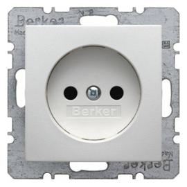 6167331909 Berker S.1/B.1/B.7 Steckdose ohne Schutzkontakt mit SHUTTER, pol Produktbild
