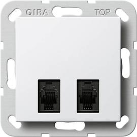590703 GIRA Diagnostikbuchse 2fach System 55 Reinweiß Produktbild