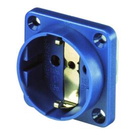 11511 MENNEKES Schuko-Anbausteckdose blau 16A 2p+E 230V IP20 Steckklemme Produktbild