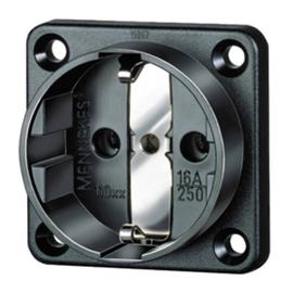 11532 MENNEKES Schuko-Anbausteckdose schwarz 16A 2p+E 230V IP20 Schraubklemme Produktbild