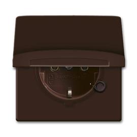 20 EUGK-31-101 BUSCH-JÄGER Allwetter Schuko-Steckdose mit Deckel IP44 braun Produktbild