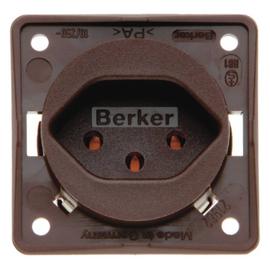 962492501 BERKER INTEGRO SSD mit Schutzkontakt Schweiz Typ 13 braun Produktbild