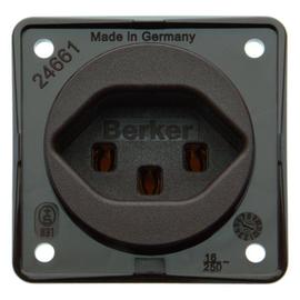 962592501 BERKER INTEGRO STD mit Schutzkontakt Schweiz Typ 23, braun matt Produktbild