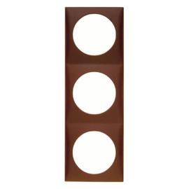 918192511 BERKER INTEGRO FLOW Rahmen 3fach braun matt Produktbild