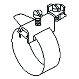 37/1/1200 KLEINHUIS Erdungsbandschellen max. 360mm Rohrdm, 1200mm lang Produktbild