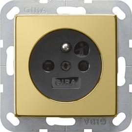 0188604 GIRA SCHUKO Steckdose System 55 Messing Schwarz Produktbild