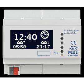 SCN-RTC20.01 MDT KNX Schaltuhr, 20 Kanal mit LCD Anzeige, 6TE, REG Produktbild