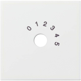 026903 Gira System 55 Zentralstück für Rundfunkanlage Reinweiss glänzend Produktbild