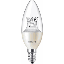 45350600 Philips MASTER LEDcandle klar 6-40W 827 E14 B38 DIMTONE 2700-2200K A+ Produktbild