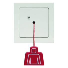52026099 Berker BERKER Q.3 Zugtaster mit Rahmen 24V=     polarweiß samt Produktbild