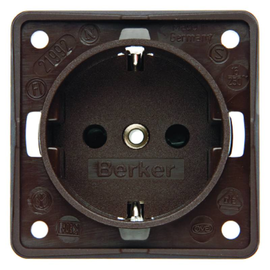 941952501 Berker INTEGRO braun SSD mit erhöhtem Berührungsschutz u.Schraubkl. Produktbild