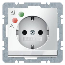 41086089 Berker Q.x SSD mit Über- spannungsschutz,  polarweiß samt Produktbild