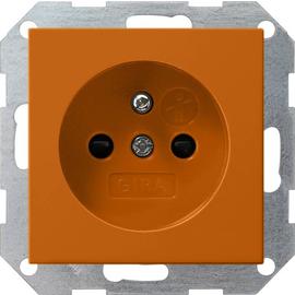 011502 Gira Steckdose Erdstift KS System 55 Orange Produktbild