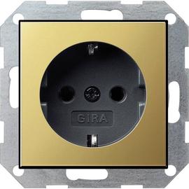 0180604 Gira SCHUKO Steckdose SK System 55 Messing/Schwarz Produktbild