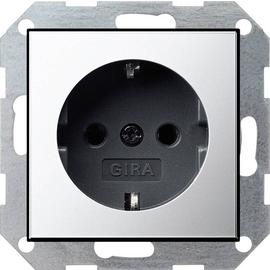 0180605 Gira SCHUKO Steckdose SK System 55 Chrom/Schwarz Produktbild