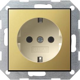 0180614 Gira SCHUKO Steckdose SK System 55 Messing/Cremeweiß Produktbild