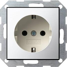 0180615 Gira SCHUKO Steckdose SK System 55 Chrom/Cremeweiß Produktbild