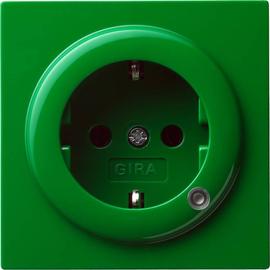 018245 Gira SCHUKO Steckdose mit Beleuchtung S Color Grün Produktbild