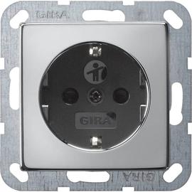 0183605 Gira SCHUKO Steckdose SK KS System 55 Chrom/Schwarz Produktbild