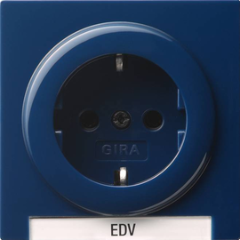 018746 Gira SCHUKO Steckdose BSF S Color Blau Produktbild