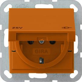 041602 Gira SCHUKO Steckdose KD ZSV System 55 Orange Produktbild