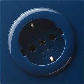 044846 Gira SCHUKO Steckdose 30 Grad S Color Blau Produktbild