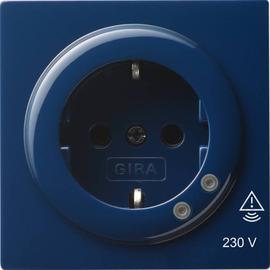 045146 Gira SCHUKO Steckdose Überspannungsschutz S Color Blau Produktbild