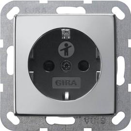 0453605 Gira SCHUKO Steckdose KS System 55 Chrom/Schwarz Produktbild