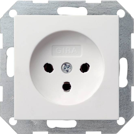 047927 Gira Steckdose HNA System 55 Reinweiß matt Produktbild