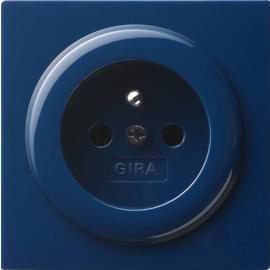 048446 Gira Steckdose Erdstift S Color Blau Produktbild