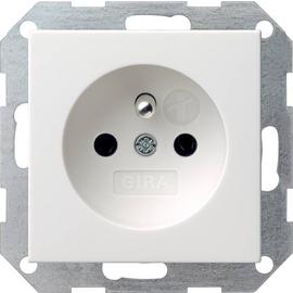 048527 Gira Steckdose Erdstift KS System 55 Reinweiß matt Produktbild