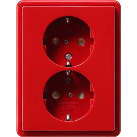 078343 Gira Doppel SCHUKO KS S Color Rot Produktbild